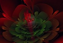 Fractal Holiday Greeting Cards