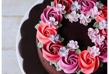 Buttercream cake deco