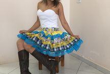 vestido caipira