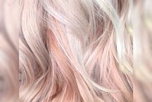 blonde and pastel pink