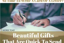 Beautiful Gifts That Are Quick To Send / Are you on the move all the time? Do you struggle to find the time to buy a card, then sit down, write and post it? Well so do we, so we've created a board of beautiful gift ideas that can quickly and easily be sent in the post.