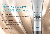 NEW Physical Matte UV Defense SPF 50 / Physical Matte UV Defense SPF 50: A NEW UVA/UVB oil absorbing base proven to maintain a matte finish even in hot, humid conditions.