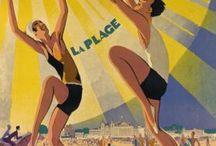pub touristiques / affiche publicitaire de voyages