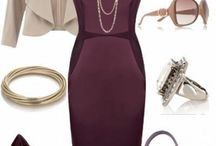 mum's accessories / necklaces matching plum outfit