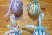 Sequin Christmas Balls