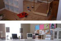 Werkkamer / Een gezellige, mooie en opgeruimde werkkamer geeft je nog meer zin om op te ruimen.