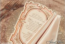 Menus for Place settings / Menu cards and signs for weddings and other events / by Gourmet Invitations