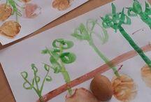 Potato stamp art ideas