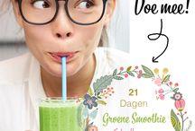 21 dagen Groene Smoothie Challenge / Met een groene smoothie per dag krijg je in een keer heel veel voedingsstoffen binnen en begin je je dag dus met een frisse portie energie. Wat wil je nog meer? Tijdens de Groene Smoothie Challenge van Miss Natural dagen we je dan ook uit om zelf te zien wat een dagelijkse groene smoothie voor jou kan doen, door 21 dagen lang elke dag een groene smoothie te drinken! Doe je mee? http://missnatural.nl/jouw-nieuwe-uitdaging-21-dagen-groene-smoothies/