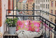 Schöne balkongs
