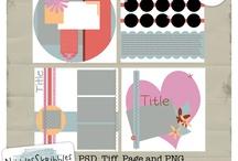 Digital Scrapbooking Templates by Nibbles Skribbles / Digital Scrapbook Page Templates by Nibbles Skribbles / by Nibbles Skribbles