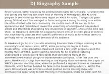 Best biography samples best biography on pinterest for Dj biography template