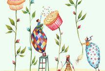 watercolor and pretty prints