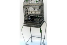 Antique Style Bird Cage with Stand / http://bird-cages-forsale.com