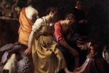 Jan Vermeer /  Pintor holandés que destacó por sus retratos de escenas de interior llenas de serenidad, compuestas con una claridad matemática e imbuidas de una luz fría y plateada. Vermeer, también llamado Jan van der Meer van Delft, nació en Delft y fue bautizado el 31 de octubre de 1632. Tras seis años de aprendiz, parte de ellos a las órdenes del pintor holandés Carel Fabritius, fue admitido en 1653 en la cofradía de San Lucas como maestro pintor.