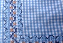gingham embroidery ideas