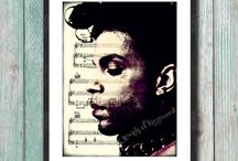 Music Page Art Prints / Our Music Page Art Prints include a sheet music background with songs that relate to the musician or group/band featured on each print. A digital replica of the sheet music is used with various overlays for added color. Many of these art pieces are keepsakes because they pay homage to one of the great musicians of our time. If you would like a tribute print for a musical artist, contact us to discuss a custom design. Visit: http://jewelsofkingwood.com/product-category/music-page-art-prints/