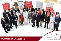 Visit of a high level delegation on launch of the Pink Caravan. / University Hospital Sharjah (UHS) hosted the visit of a high level delegation on the sidelines of the launch of the Pink Caravan. University Hospital Sharjah is one of the preferred medical service providers to Pink Caravan and Friends of Cancer patients (FOCP).