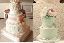 Wedding cake and food