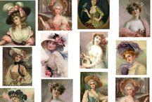Декупаж - Victorian ladies,vintage ladies / Victorian ladies,vintage ladies