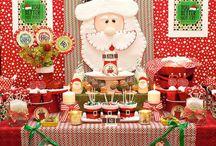 mesa de dulce navideña