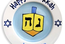 """Happy Hanukkah! / Celebrate the Festival of Lights by painting your own Seder plate, or a custom Menorah! All these great ideas will have you saying, """"Chag sameach!"""""""