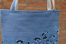 Jeans tote bags