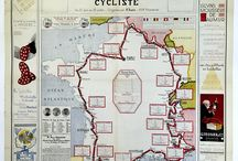 Tour De France Posters & Memorabilia / The Tour De France, La Grande Boucle, was first organized in 1903 to increase paper sales for the magazine L'Auto. The race has been trtaditionally held in the month of July and has run every year except during WWI and WWII.  In the section we bring you a wide selection of posters and select items from the Tour De France