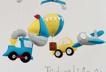 feltro bebè / decorazioni feltro per bambini