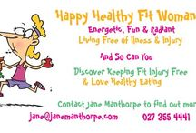 Happy Healthy Fit Woman / A Happy Healthy Fit Women who is connected to her authentic self and loves her self unconditionally, oozes with confidence, vitality, radiance and joy of life.