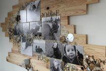 tableau sur planches de bois