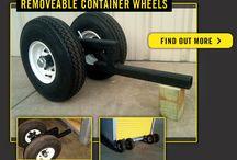 container wheel jacks