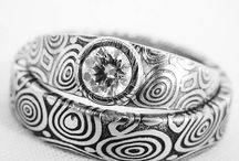 damascus steel rings with diamond