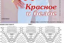 crochet rojo