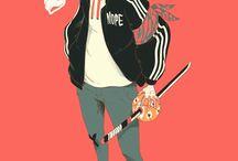 Japan Anime Doodle