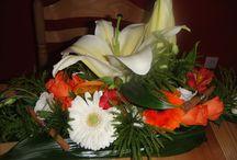 Fleurs mariage sur les épices