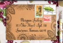 Snail mail ideas, koperty, listy...