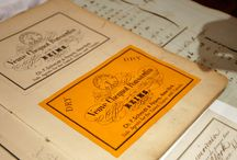 Vintage Labels & Stickers / It is thought that it was the Egyptians who first came up with the idea of sticking paper advertisements onto their market stalls to advertise special offers. / by Rallings Labels