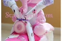 girls diaper cake