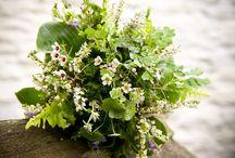 Fern inspired bridal flowers