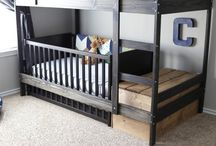 Space saving toddler room boy
