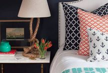 Coral & Navy Coastal / Add a splash of color to your beach house with this modern coastal color combo. Indigo conveys a bold elegance, and coral will bring your space a fresh pop of color.