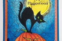 Halloween Cards created With Chameleon Pens