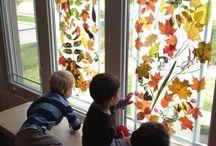 Herfst op de ramen