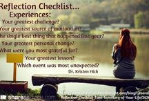 Reflection Checklist / Take Inventory of Your Life http://www.centerforsharedinsight.com/blog/General/Reflection-Checklist-Take-Inventory-of-Your-Life/2626