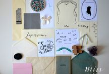 W trakcie projektu ręcznie pisanej papeterii i poligrafii / wykonanie i zdjęcia: minwedding