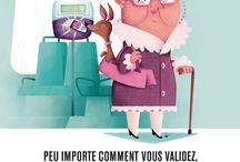 RATP - Advertising / Campagnes de la RATP