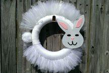 bunny tuelle wrreath