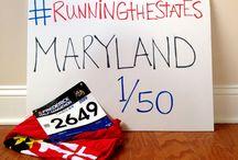 running the states / Running a half marathon in all 50 U.S. states.