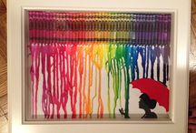 My Daughter's Crayola Paintings / Such Inspiration!